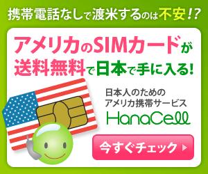 アメリカSIMが送料無料で日本で手に入る