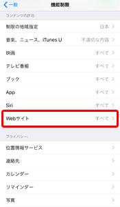 機能制限 WEBサイト