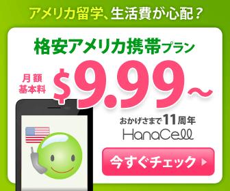 アメリカ留学、生活費が心配?格安アメリカ携帯プラン$9.99~