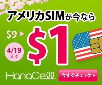 アメリカSIMが今なら$1